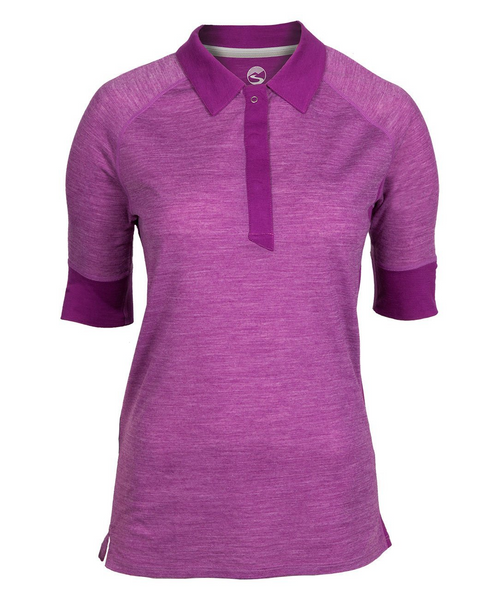 Women's Hi-Line Merino Short Sleeve Shirt - Hollyhock by Showers Pass