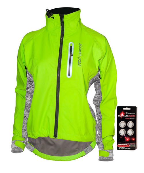 Women's Hi-Vis Elite Jacket - Silver by Showers Pass