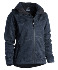 Women's Odyssey Jacket - Map Reflective Black by Showers Pass