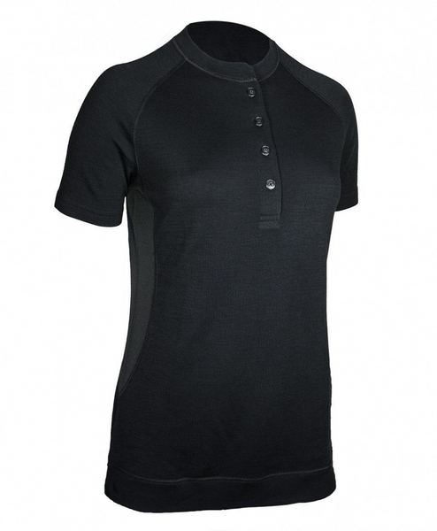Women's Short Sleeve Bamboo Merino Shirt - Black by Showers Pass