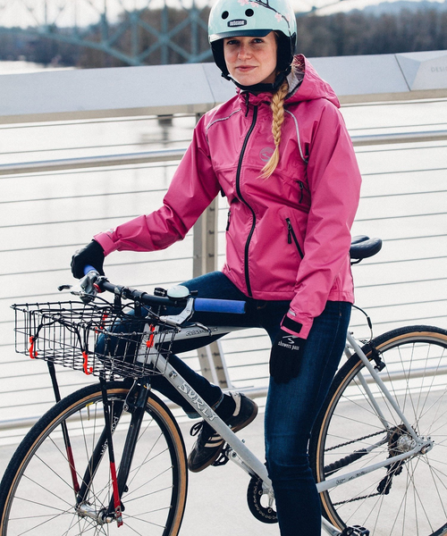 Women's Syncline Jacket - Fuchsia by Showers Pass