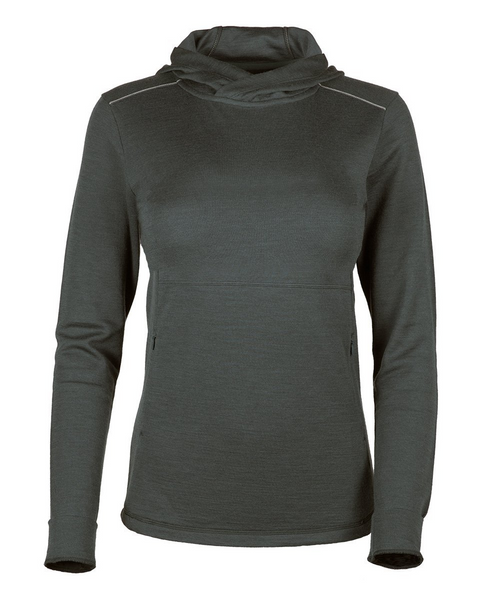 Women's Trailhead Bamboo Merino Hoodie - Dark Shadow by Showers Pass