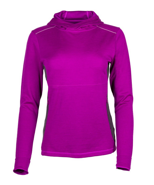 Women's Trailhead Bamboo Merino Hoodie - Hollyhock by Showers Pass