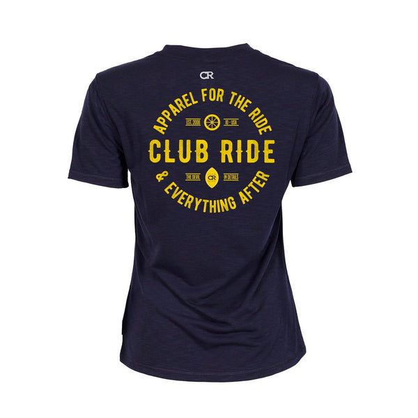 Artisan Crest Tech T-Shirt - Midnight by Club Ride