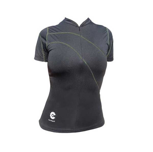 Women's Black Jersey - Colored Seams by Compel