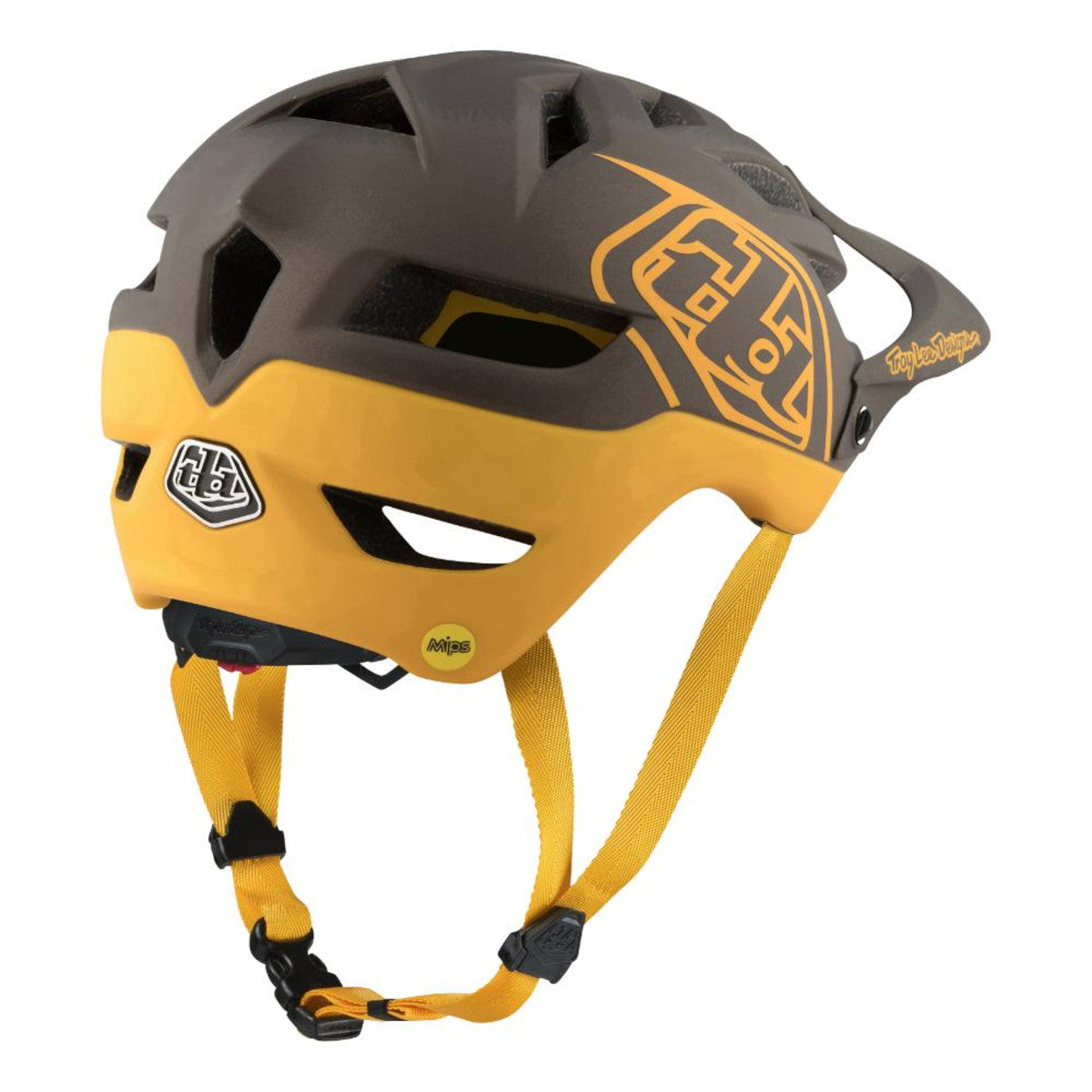 A1 Mips Helmet Classic Gray/Honey by Troy Lee Designs