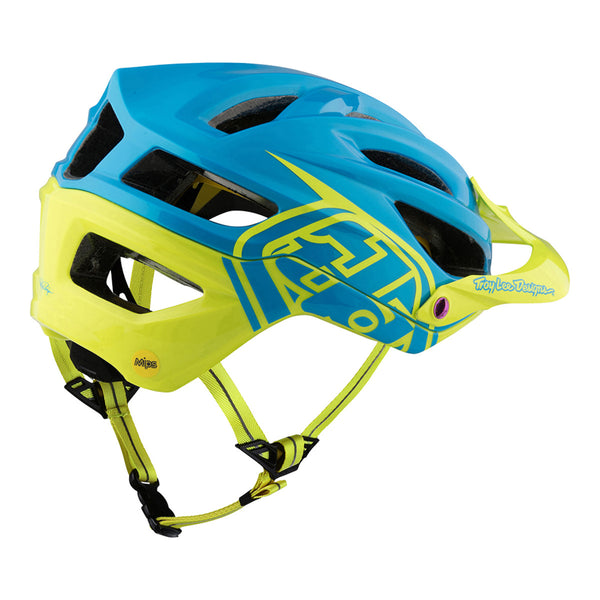 A2 Helmet Mips Decoy Blue/Yellow by Troy Lee Designs
