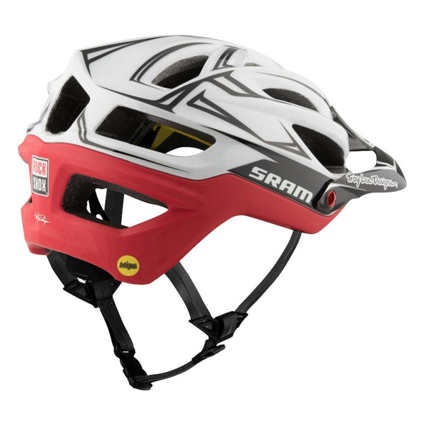A2 Helmet Mips SRAM - White/Red by Troy Lee Designs