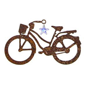 Butterfly and Dragonfly Sun Catcher Series - Cruiser with Hanging Crystal by bici bits