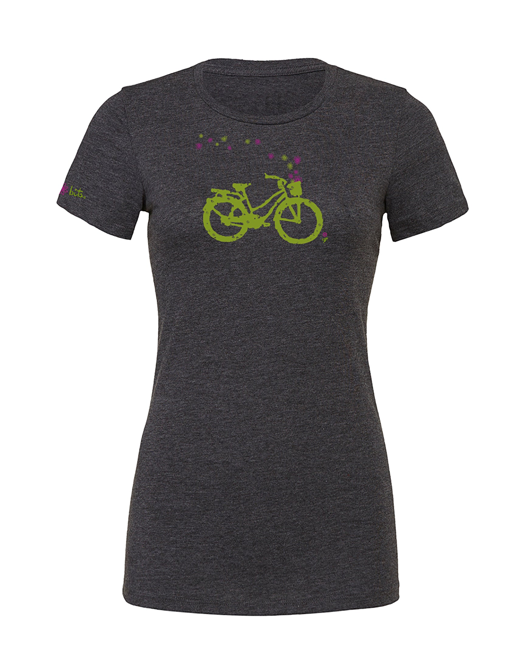 Women's Cruiser Tee - Dark Heather Grey by bici bits