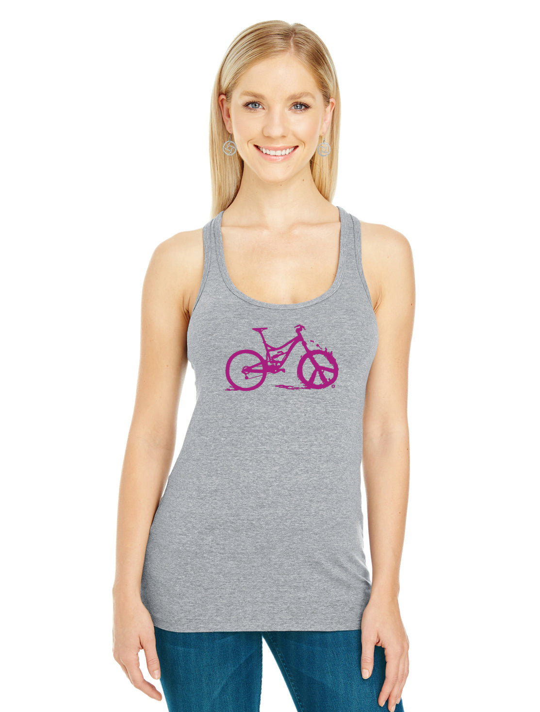Peace Wheel Tank Top - Electric Orchid by Bici Bits