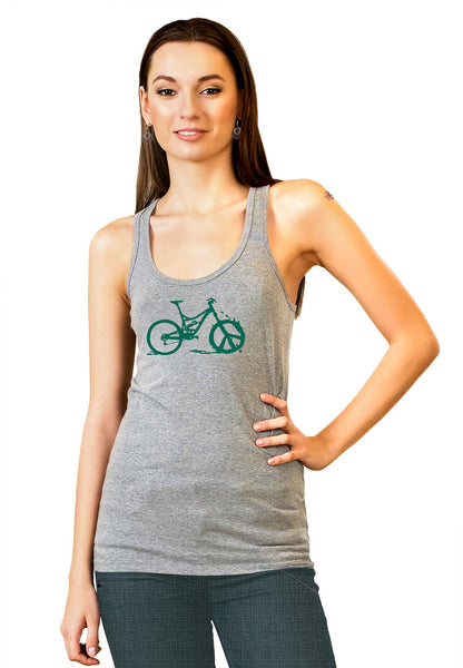 Peace Wheel Tank Top - Jade by Bici Bits