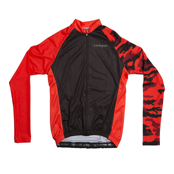 Long Camo Women's Cycling Long Sleeve Jersey by Compel