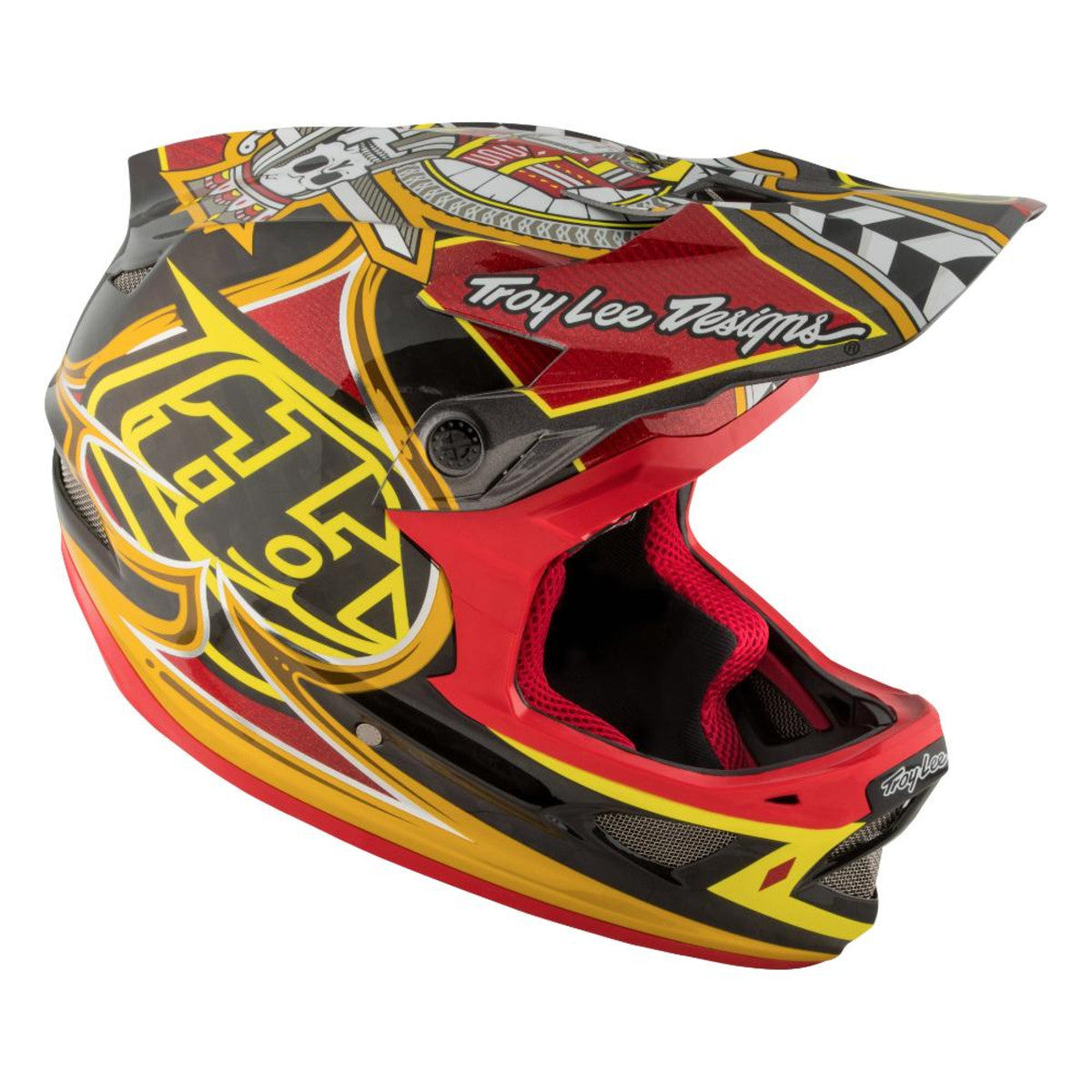 D3 Carbon Helmet Mips Longshot Red by Troy Lee Designs