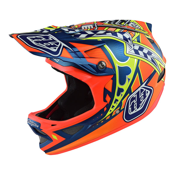 D3 Helmet Longshot Orange by Troy Lee Designs