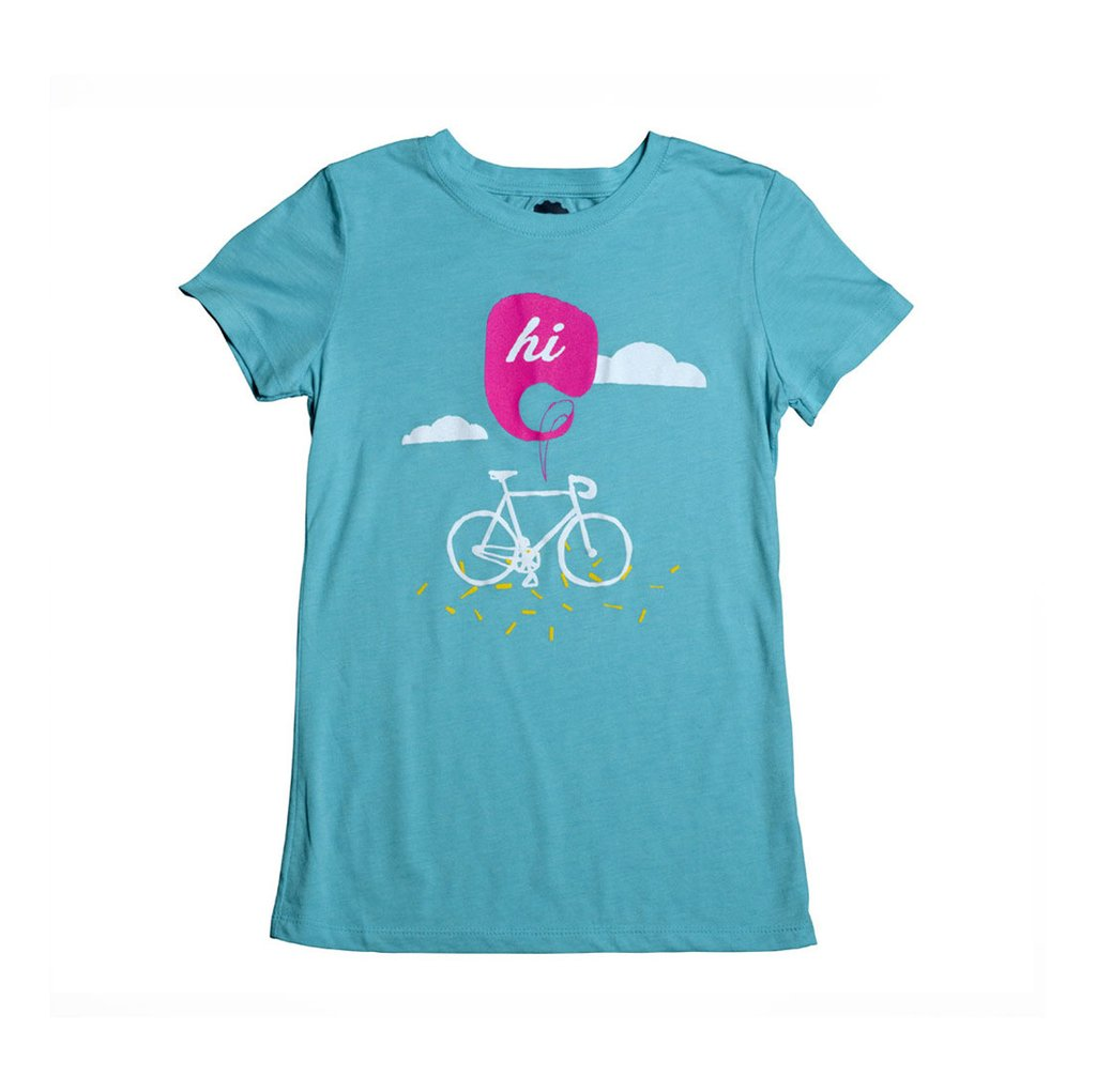Hi Women's T-Shirt - Turquoise by Compel
