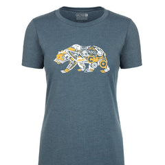 Gear Bear T-Shirt Ladies - Indigo by Tasco MTB