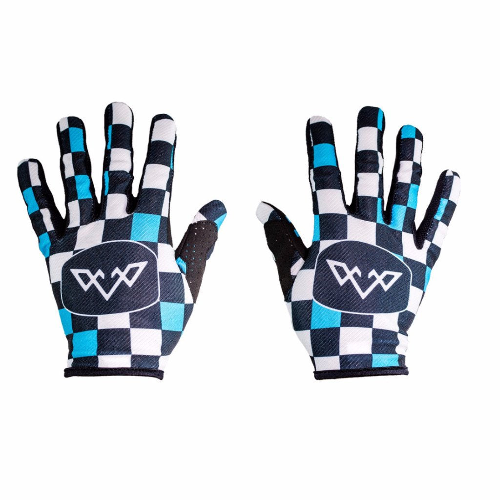 Double Digits Gloves - Teal Check Mate by Tasco MTB