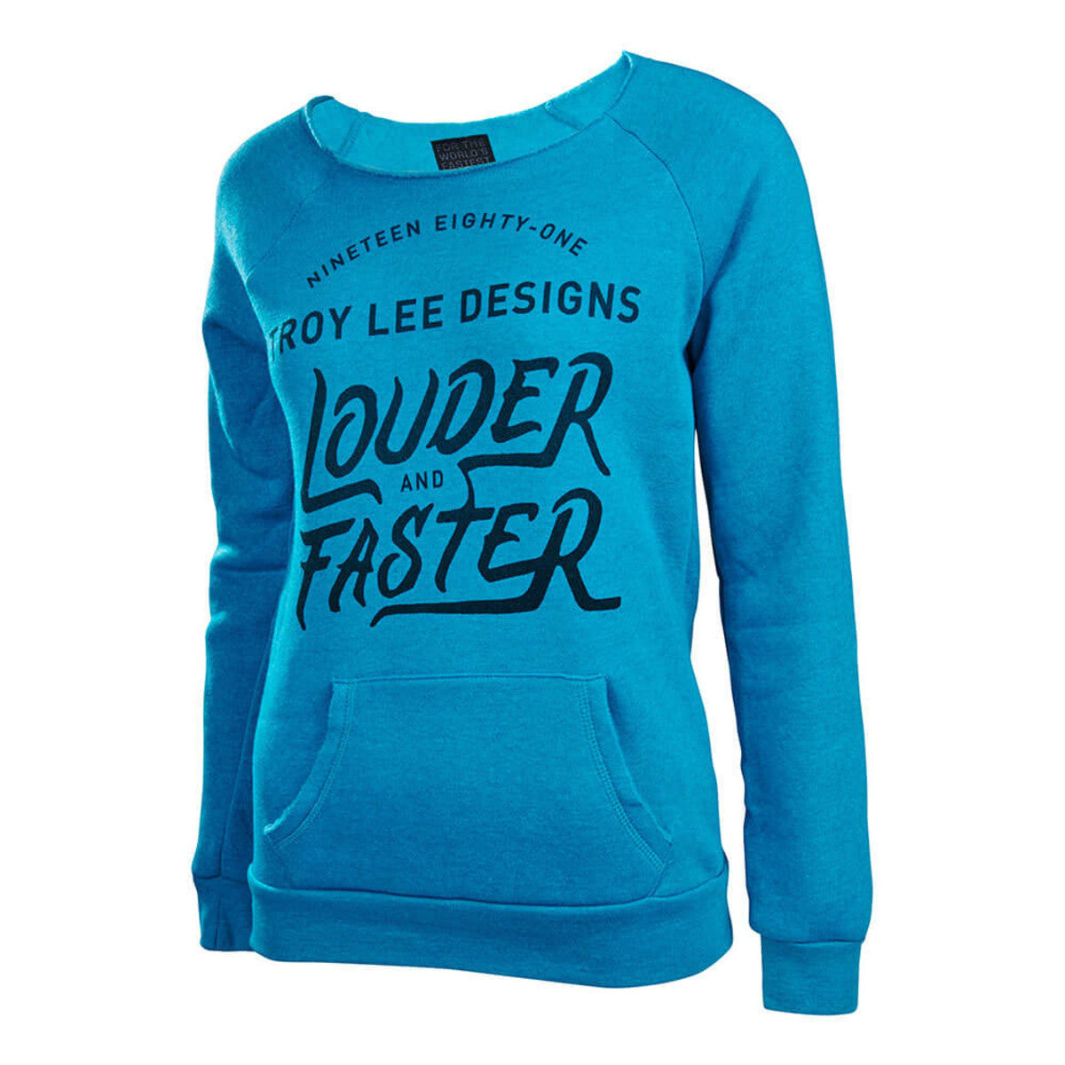 Misfit Raglan Pullover Womens Hoodie- Heather Teal by Troy Lee Designs