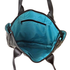 Rainier Zip Top Shoulder Bag - Turquoise by Alchemy Goods