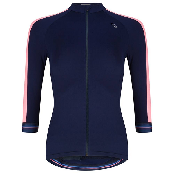 Susy Jersey Navy Coral - Pink by Susy Cyclewear