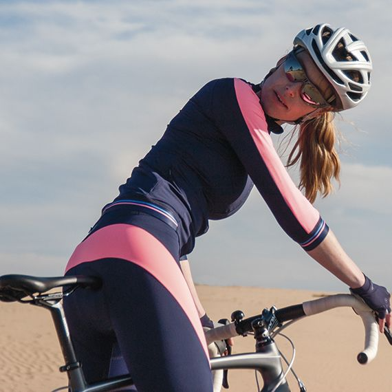 Susy Long Tight Navy - Coral Pink by Susy Cyclewear