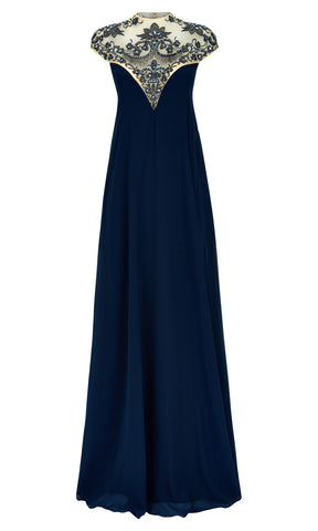 1012744 Petrol Dynasty Sweetheart Neckline Evening Dress