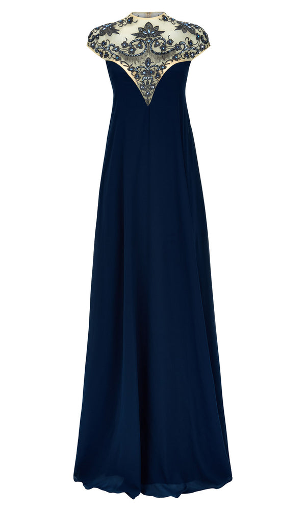1012744 Petrol Dynasty Sweetheart Neckline Evening Dress - Fab Frocks