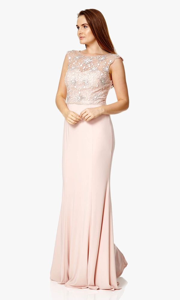 1012907 Blush Dynasty Vintage Style Evening Dress
