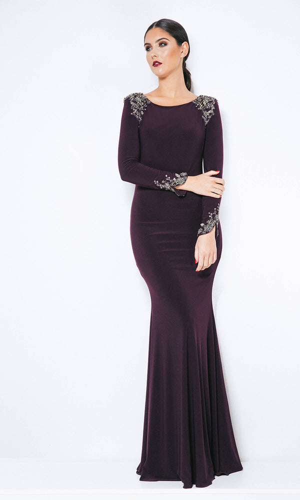 1013302 Nightshade Dynasty Evening Gown With Sleeves