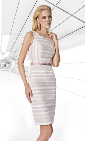 1200045 Pink Ecru Sonia Pena Dress & Jacket - Fab Frocks