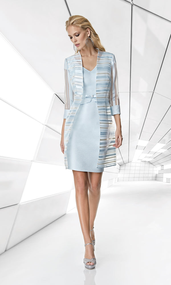 1200053 Sky Blue Ecru Sonia Pena Dress & Jacket