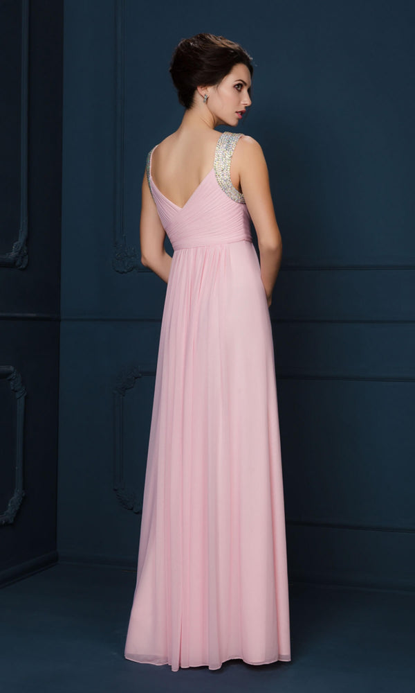 2052F Blossom Pink Gino Cerruti Dress Diamante Straps - Fab Frocks