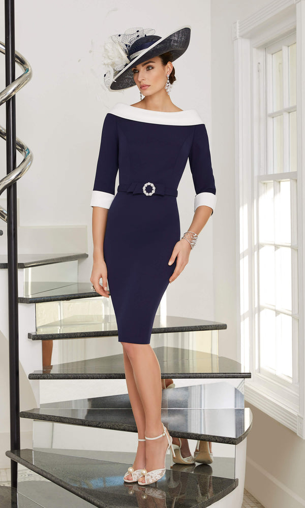 29505 Veni Infantino Ronald Joyce Navy Occasion Dress - Fab Frocks