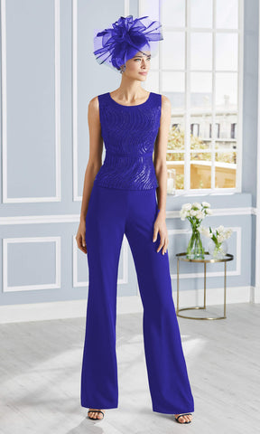 4G343 Cobalt Couture Club Special Occasion Trouser Suit - Fab Frocks