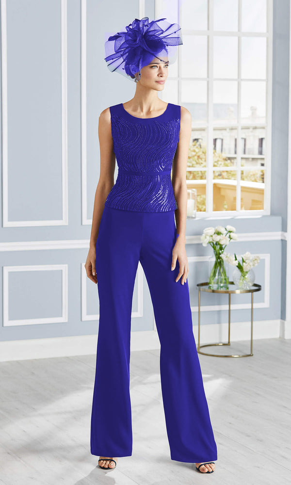 4G343 Cobalt Couture Club Special Occasion Trouser Suit