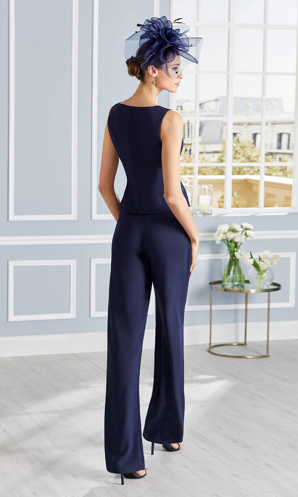 4G343 Navy Couture Club Special Occasion Trouser Suit - Fab Frocks