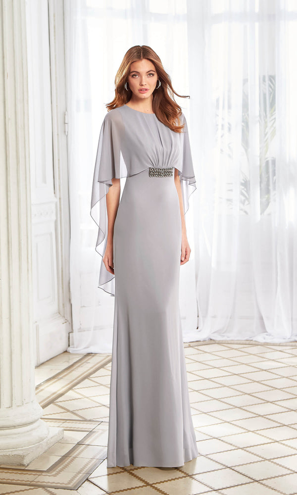 Aire Barcelona 4U155 Silver Long Evening Occasion Dress