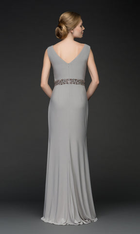 5035V Grey Gino Cerruti Grecian Style Evening Dress - Fab Frocks