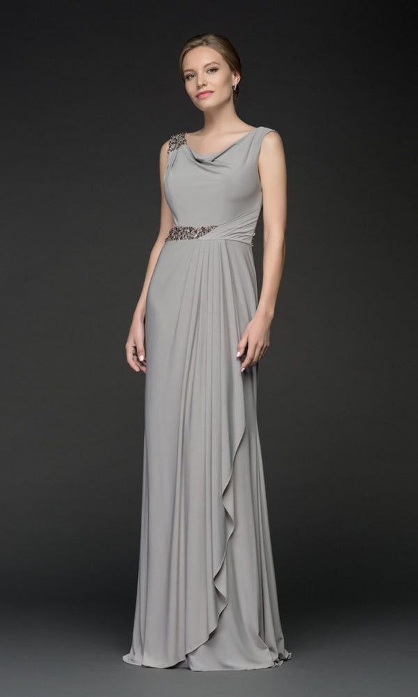 5035V Grey Gino Cerruti Grecian Style Evening Dress