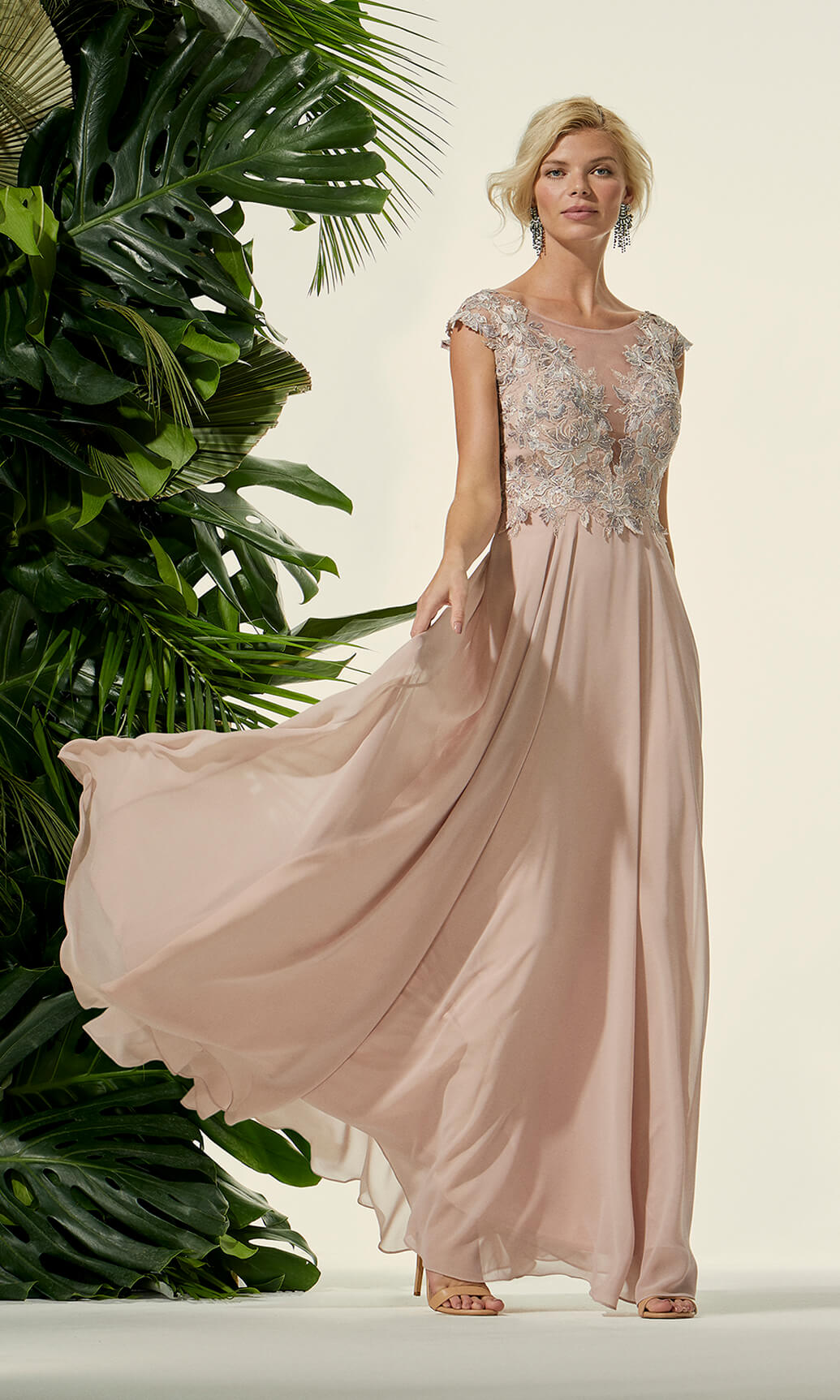 96407 Rosa Carla Ruiz Long Occasion Dress - Fab Frocks