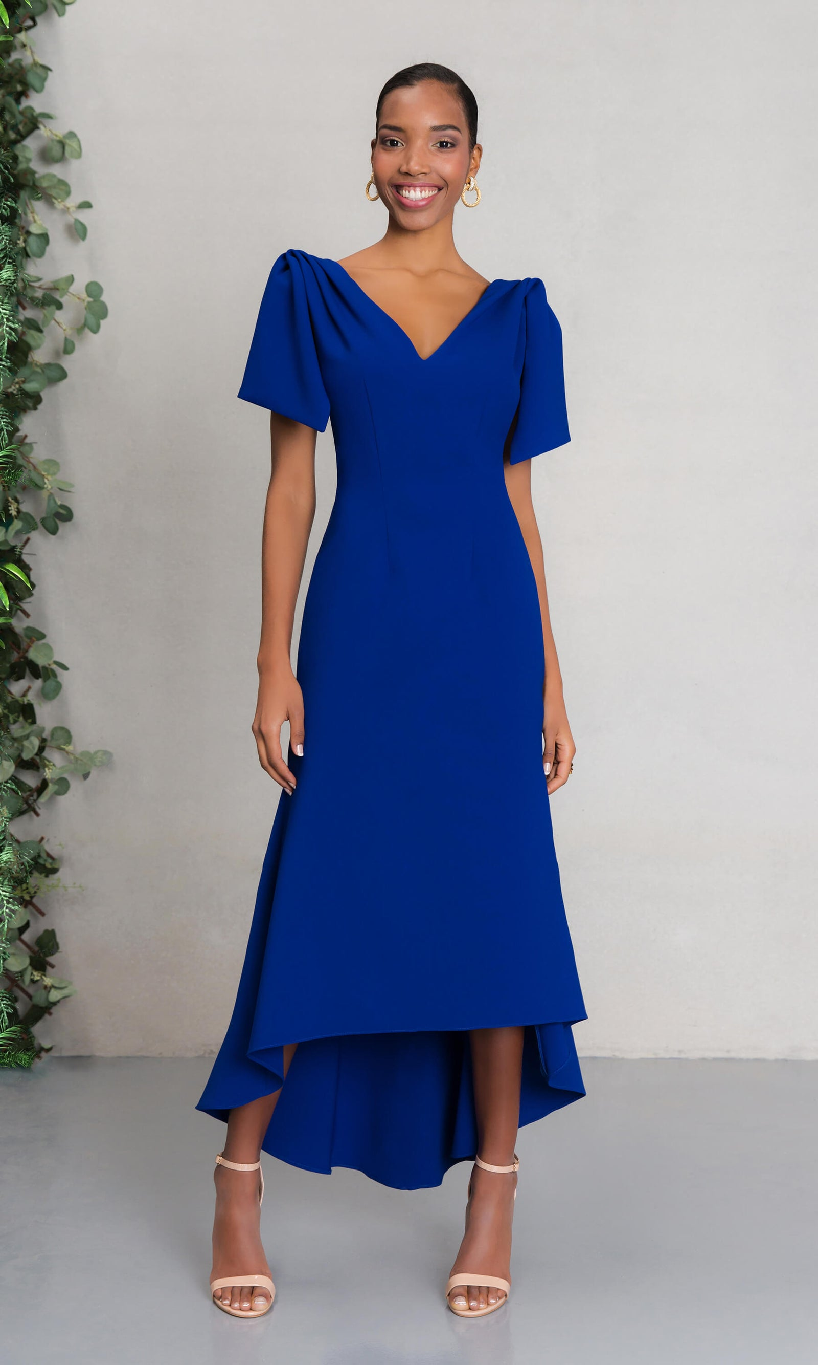 Carla Ruiz 97509 Cobalt Blue High Low Occasion Dress - Fab Frocks