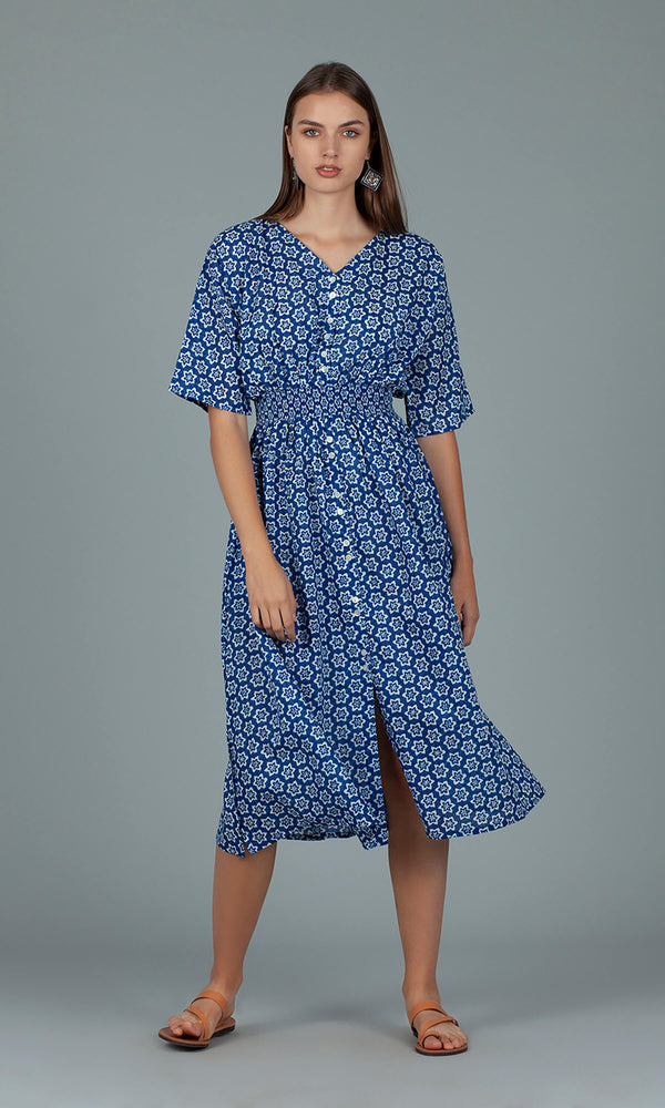 Dream Fashions AN287B Hanoi Dress Shanghai Blue - Fab Frocks