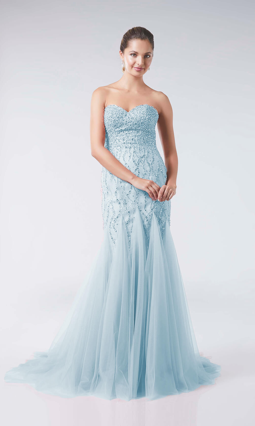 Celeste Powder Blue Tiffanys Mermaid Style Prom Dress