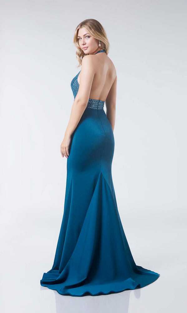 Connie Peacock Tiffanys Halterneck Prom Evening Dress