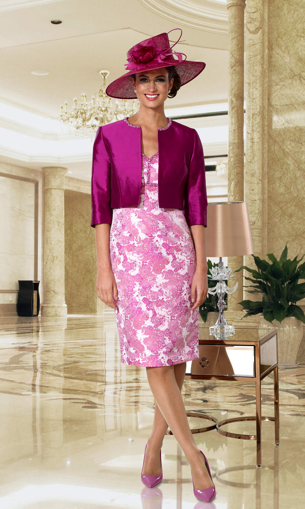 DC128D Raspberry Dress Code Dress & Jacket