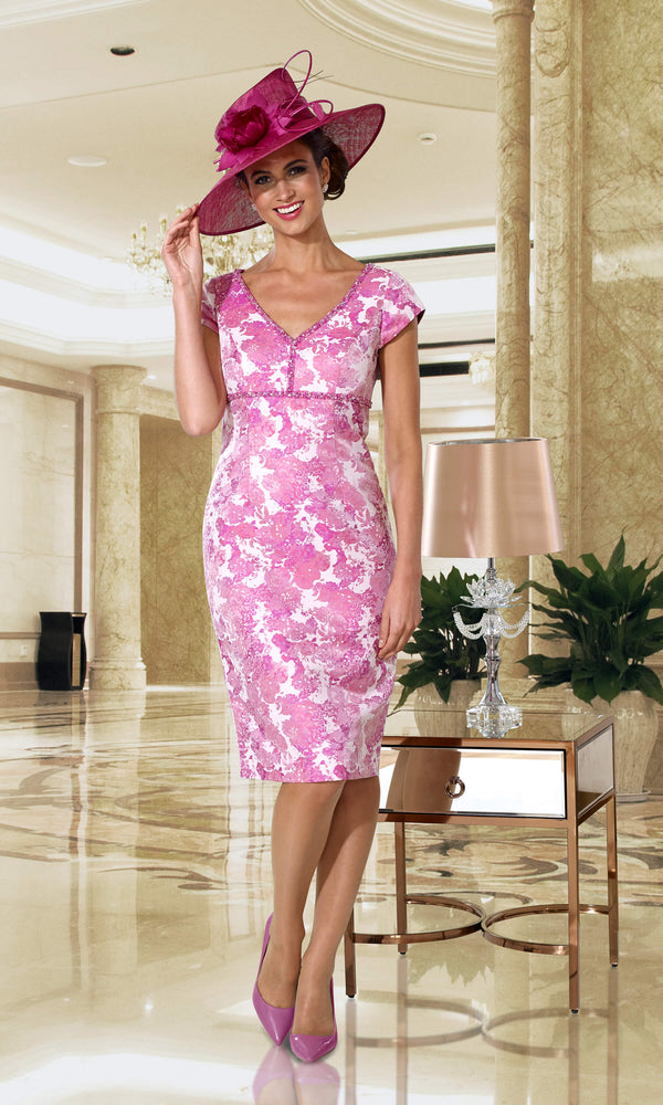 DC128D Raspberry Dress Code Dress & Jacket - Fab Frocks
