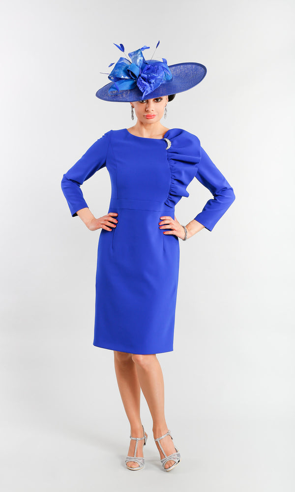 Diana Blue Claudia C Special Occasion Dress With Sleeves