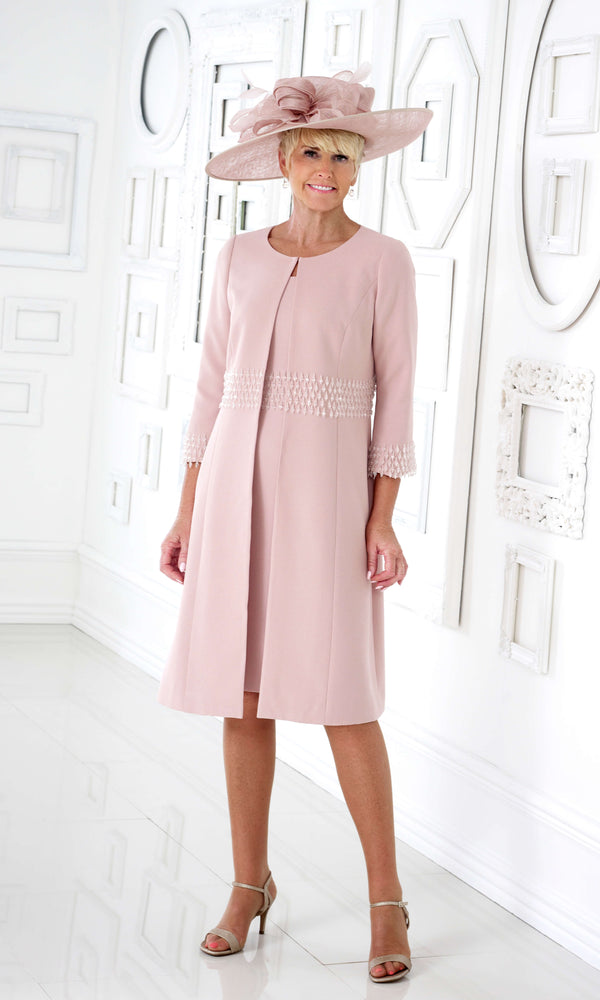 DC347S Dusty Pink Dress Code Dress & Frock Coat - Fab Frocks