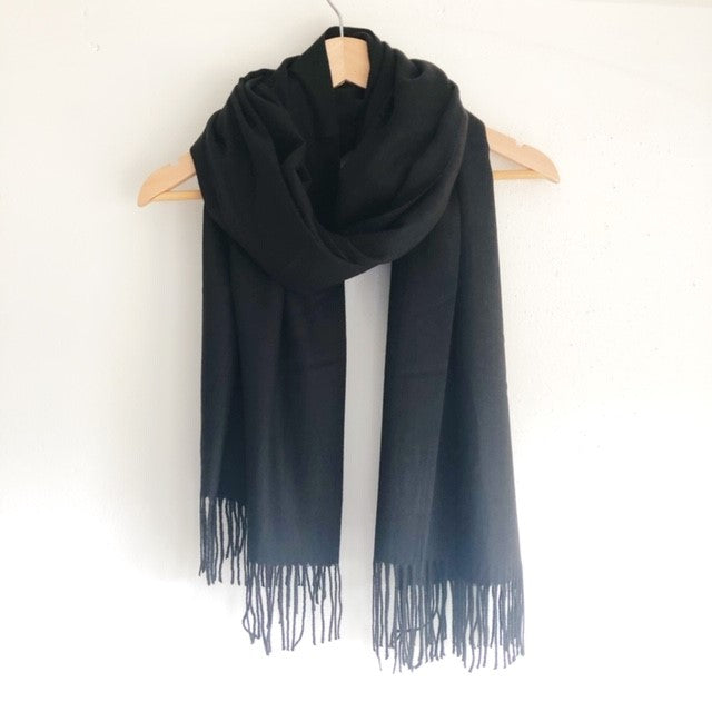 Georgia Pashmina Black Tilley & Grace - Fab Frocks